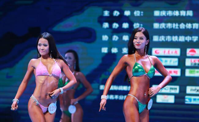 重庆健身健美大赛 猛男猛女秀魔鬼身材