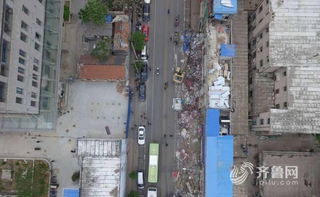 济南山师东路近3万平方米老商业街开拆