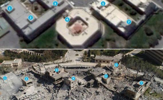 美军卫星图直击打击现场:除了瓦砾什么都没有