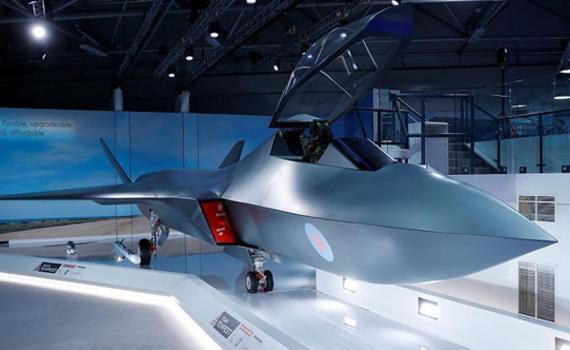 范堡罗航展英国出大招:曝光六代机全尺寸模型