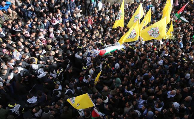 巴勒斯坦17岁少年遭以色列士兵枪杀 引民众示威抗议