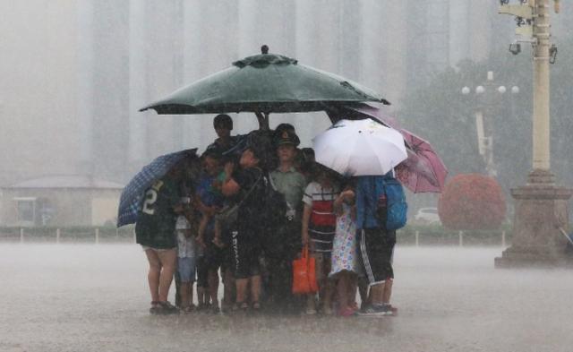 北京大雨一幕|组图