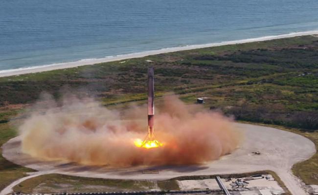 """""""二手""""火箭首次往太空站发射瞬间"""