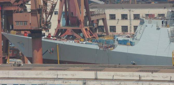 大连在建第二艘052D舰进展曝光 舰体基本完成