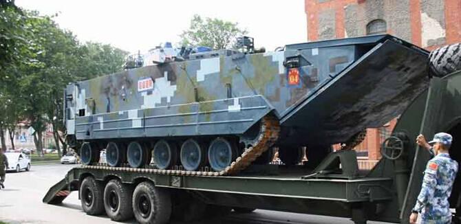 05式两栖战车赴俄参赛 将再现里海赛马骄人战绩