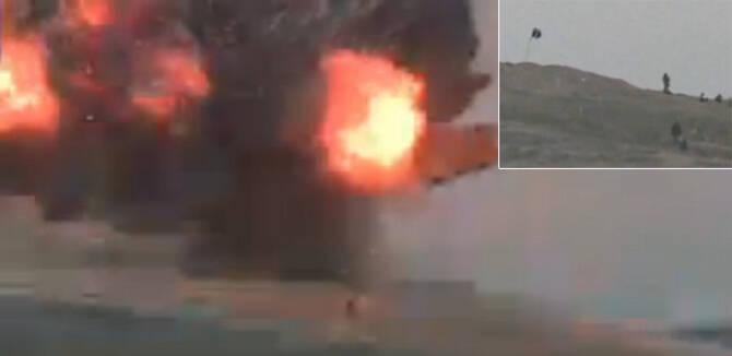 美军精准空袭极端组织据点 连人带旗一起炸飞