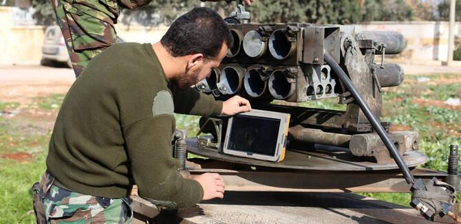 叙反对派搬出中国造107火箭炮:Ipad定位如虎添翼