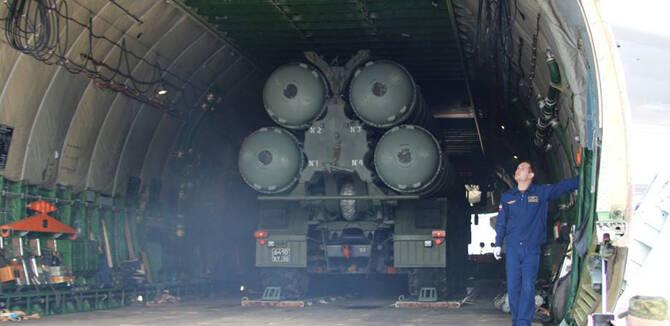俄军安124运来S400在叙部署 将摧毁任何危险目标