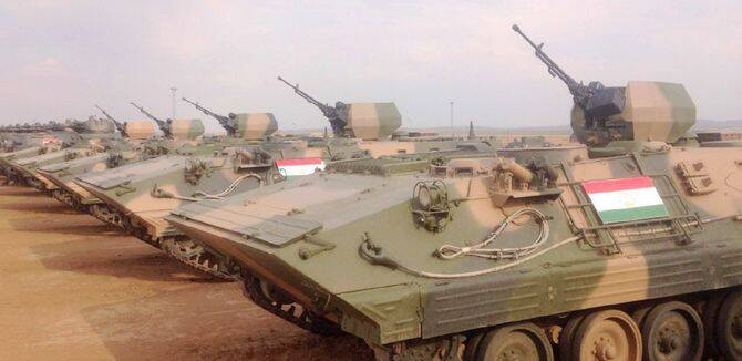 和平使命参演装备就位 塔吉克斯坦用中国战车