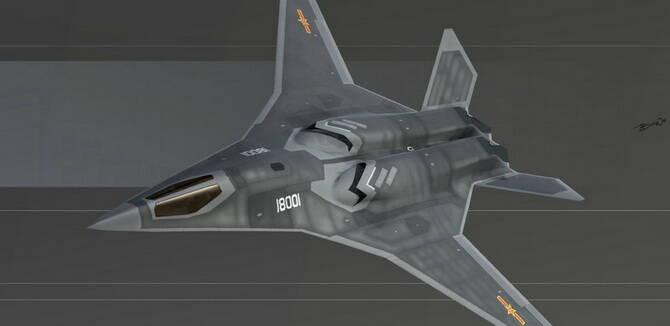 中国未来隐身战轰想象图 背部进气弹仓宽阔