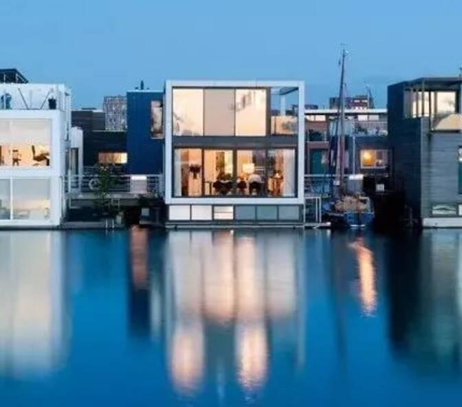荷兰发展「漂浮城市」,让人们真正与水共存