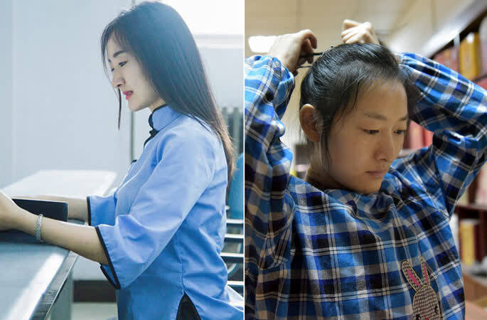 女孩放弃北京工作回家打工救弟 美女变成丑小鸭