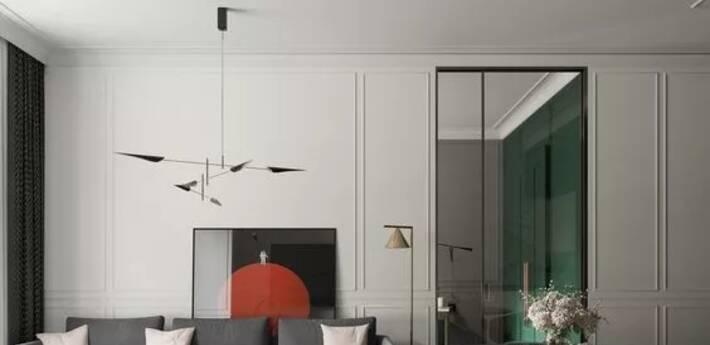 除了天花板,石膏线上墙也很美