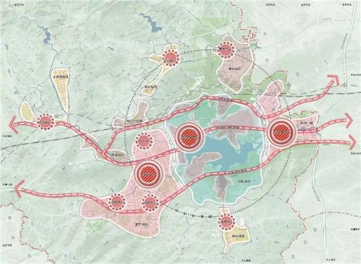 东部片区规划结构图.(来源:浙江