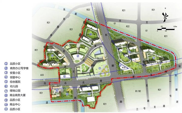 重磅 武林新城最新规划出炉 7大重要片区未来这样建
