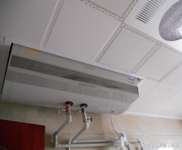 卫生间热水器包在吊顶里和放吊顶下区别真大图片