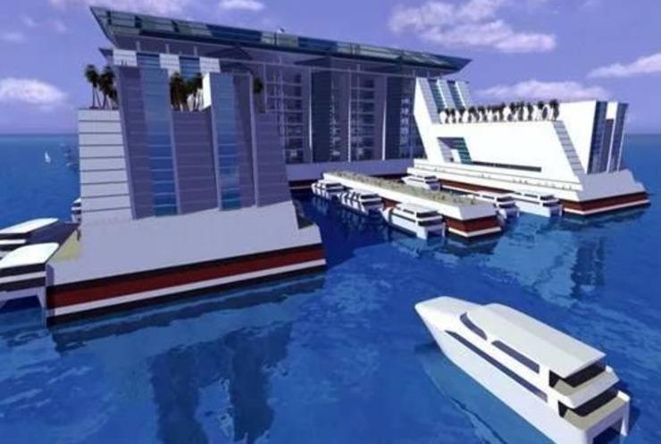 你说这么大的东西靠什么动力的?为了环保这座浮城全布依赖海浪能和太阳能,完全不浪费资源。
