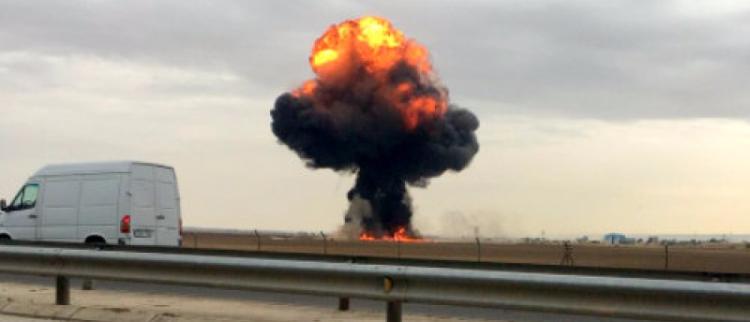 西班牙1架F-18战机在马德里坠毁