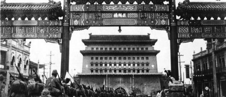 侵华战争期间横行在北平城的日本军队