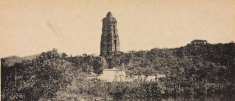 百年旧照中原汁原味的西湖雷峰夕照