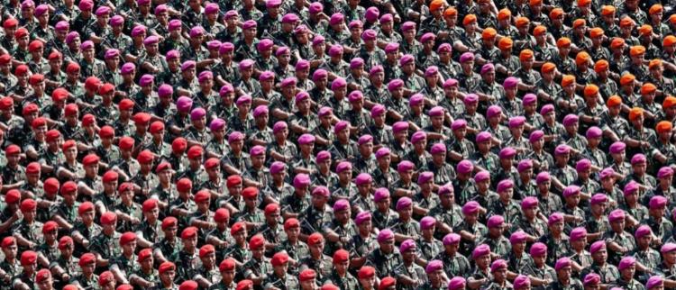 印尼军方严阵以待迎接大选