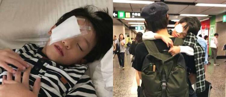 香港男星6岁儿子惨遭铅笔插眼睛…