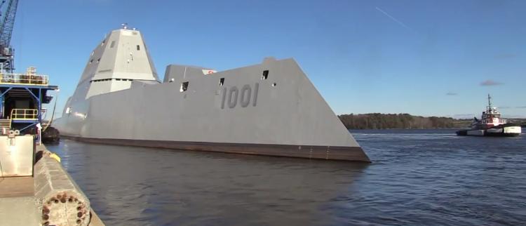 美国最强战舰试航 号称比055领先