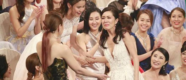 TVB50周年颁奖礼 唐诗咏获奖哭泣