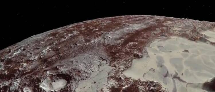 NASA展示前所未见的冥王星复杂地貌