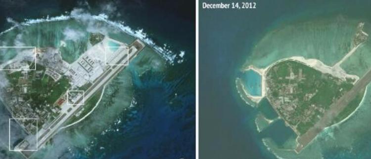 美智库偷窥西沙岛礁建设