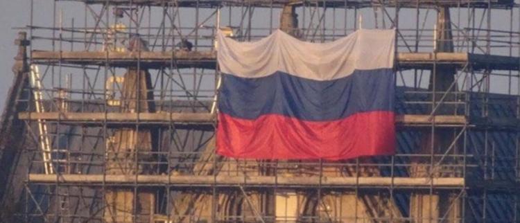 英教堂被挂俄国旗 俄:精心策划的挑衅