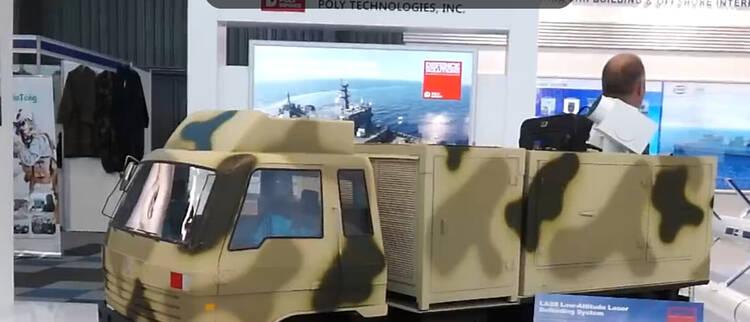 中国激光防空武器亮相南非