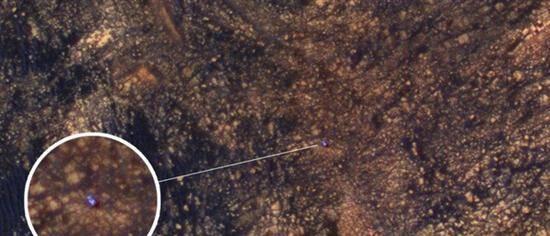 """""""好奇""""号火星探测器被抓拍"""