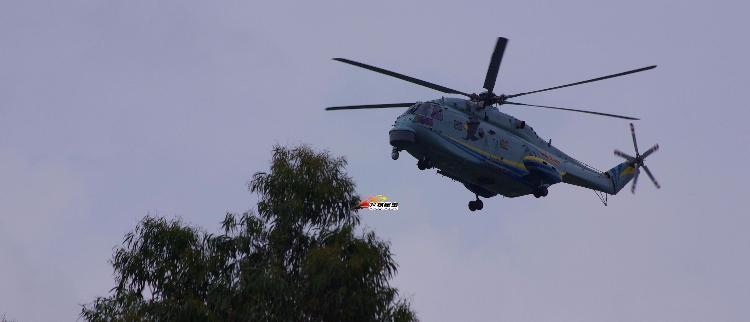 网友拍直-18F航母专用反潜直升机