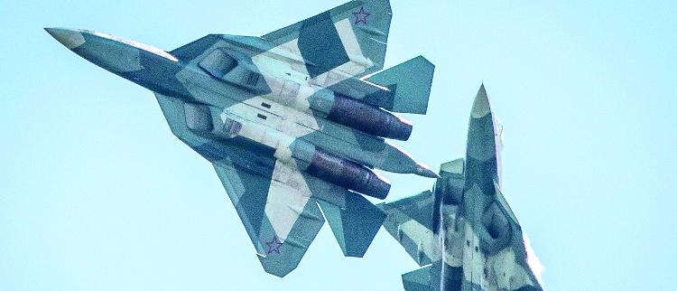 T-50战机惊艳亮相莫斯科航展