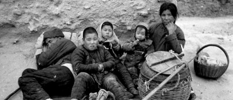 1942年逃荒途径洛阳的大饥荒灾民