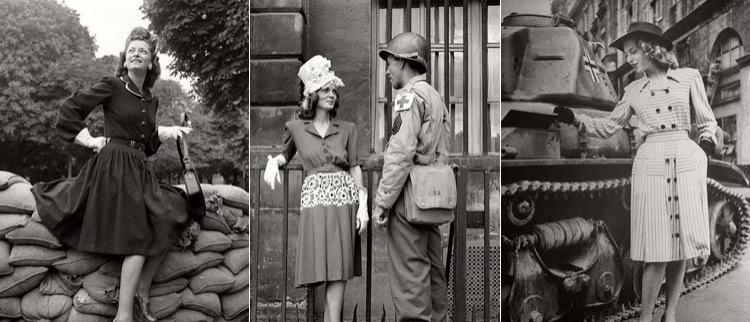 1944年巴黎女性用这种方式庆祝解放