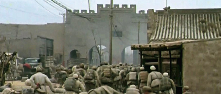 1949年解放军攻入南京城瞬间