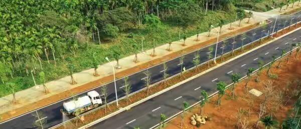 海口东寨港大道全线通车 江东新区新增一条南北向城市主干道