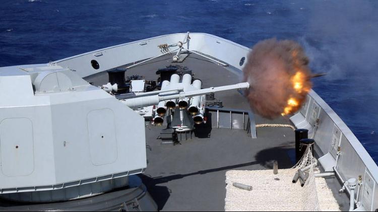 中美海军环太军演美切磋技艺