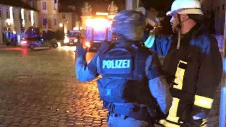德国餐厅发生爆炸现场:至少1死9伤