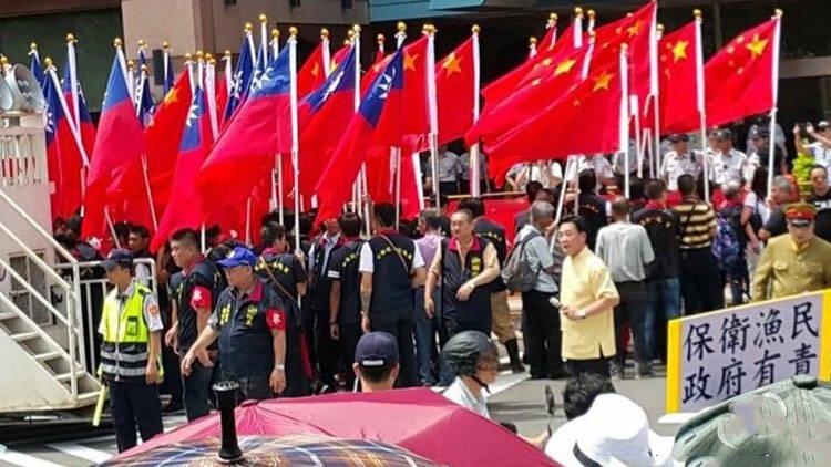 台湾民众谴责民进党对日妥协活动现场