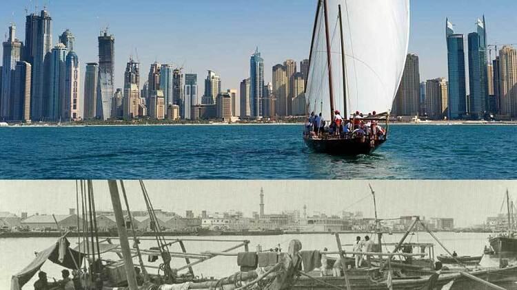 图片记录迪拜50年变迁