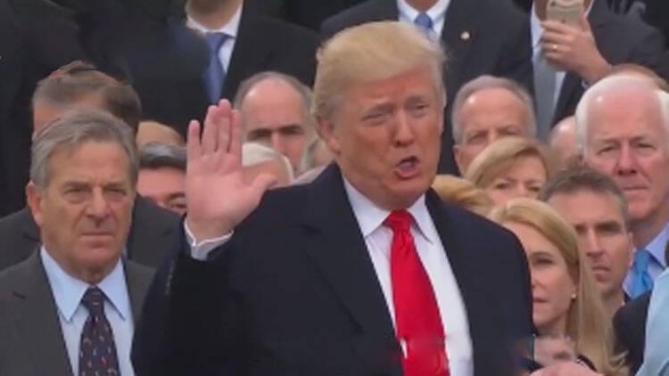 特朗普正式宣誓就任第45任美国总统