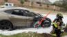 特斯拉Model S行驶中自燃起火 车门被烧出一个大洞