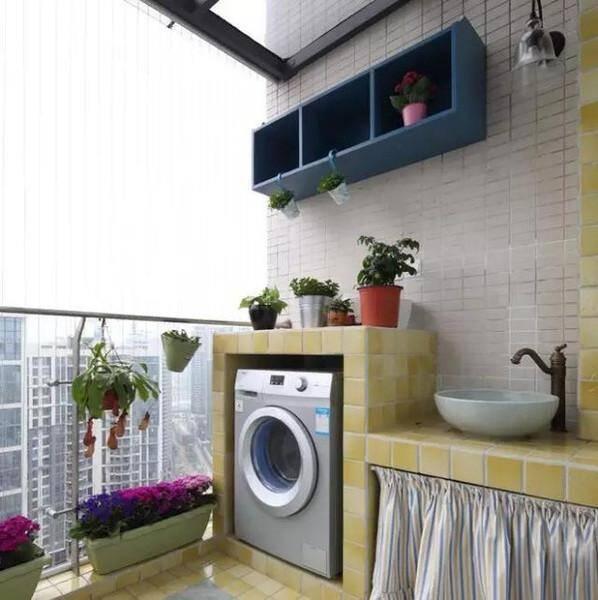 小戶型陽臺怎么利用 24款陽臺洗衣房裝修效果圖