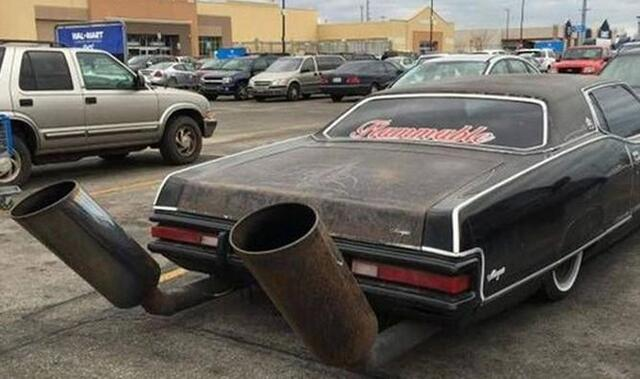 Image result for sh*tty car mods exhaust
