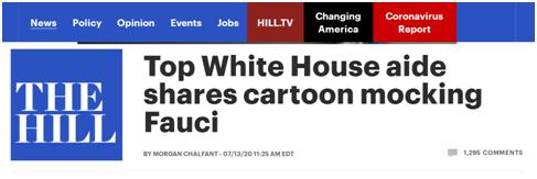 """福奇被画成""""水龙头""""!特朗普幕僚为表不满连嘲讽漫画也用上了"""