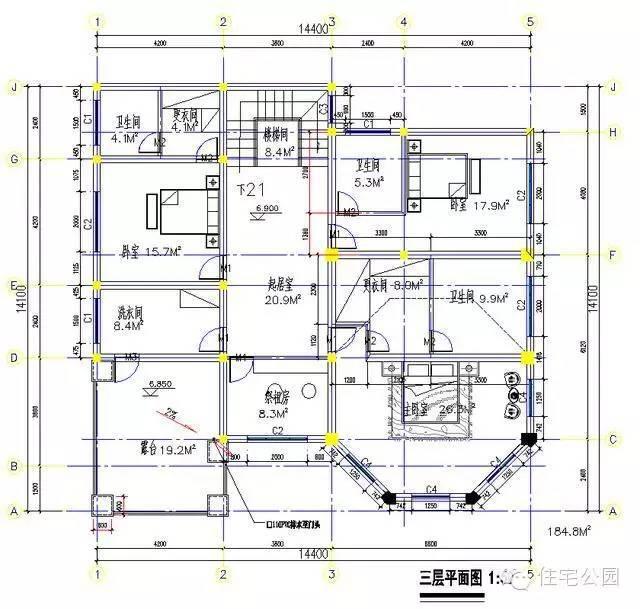 10套新農村自建房別墅設計圖戶型六