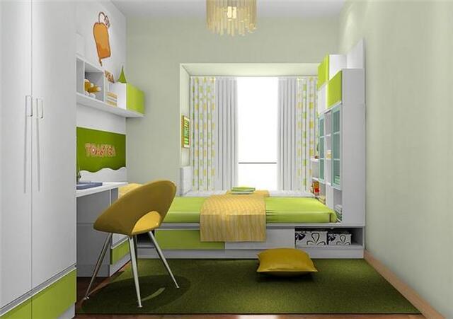 羨慕!14款小戶型兒童房臥室榻榻米床裝修圖片